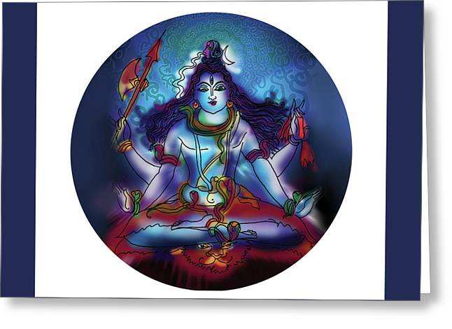 Samadhi Shiva Greeting Card