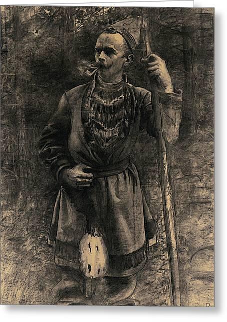 Same I Skogsbryn Greeting Card