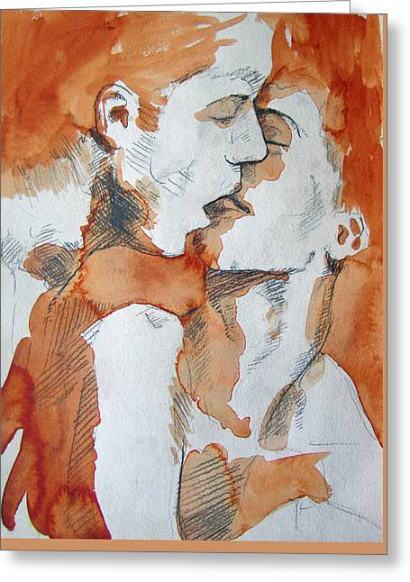 Greeting Card featuring the painting Same Love by Rene Capone