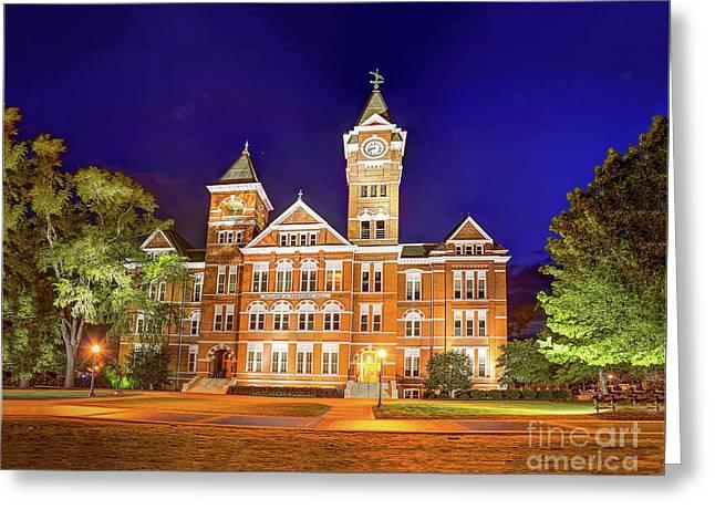 Samford Hall At Night Greeting Card