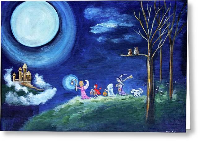 Samhain Night Greeting Card by Diana Haronis