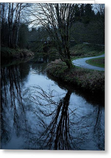 Sammamish River At Dusk Greeting Card