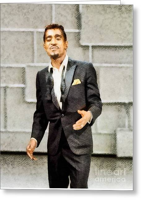 Sammy Davis Jr., Hollywood Legend By John Springfield Greeting Card by John Springfield