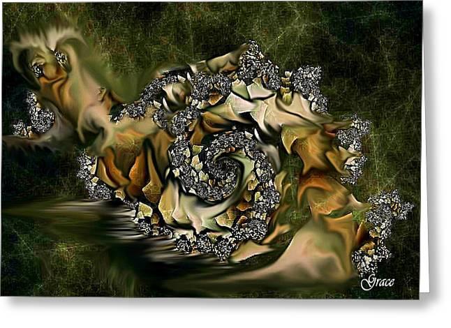 Sammy Snail Greeting Card by Julie Grace