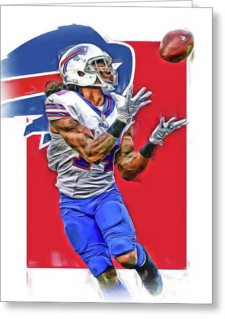 Sammy Watkins Buffalo Bills Oil Art Greeting Card