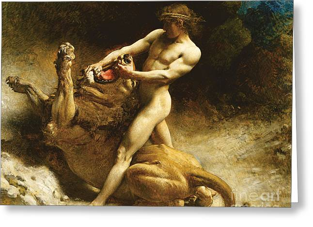 Samson's Youth Greeting Card by Leon Joseph Florentin Bonnat