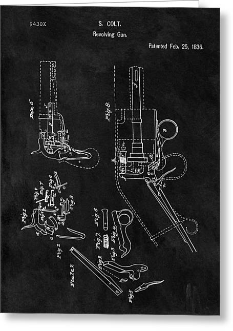 Samuel Colt 1836 Revolver Patent Greeting Card by Dan Sproul