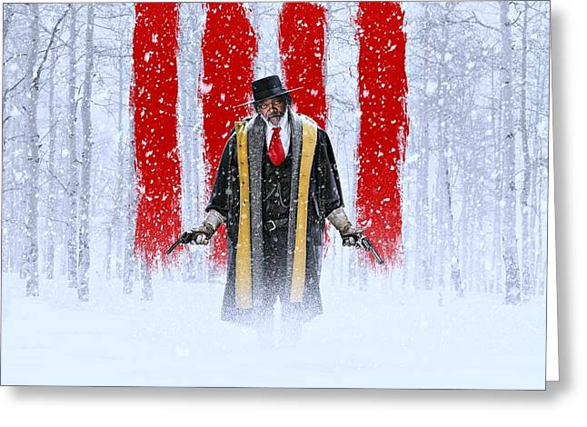 Samuel L Jackson The Hateful Eight Greeting Card by Movie Poster Prints