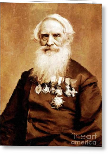Samuel Morse, Inventor And Painter, By Mary Bassett Greeting Card by Mary Bassett
