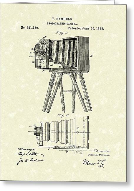 Samuels Photographic Camera 1885 Patent Art Greeting Card