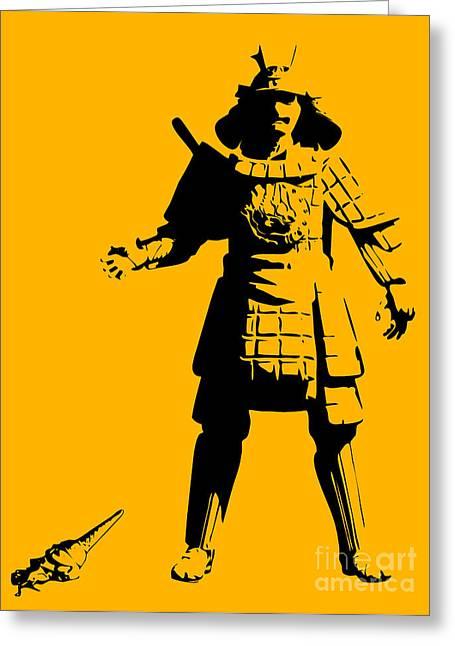 Samurai Fail Greeting Card by Pixel Chimp