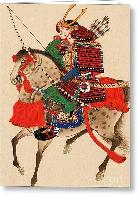 Samurai On Horseback Greeting Card
