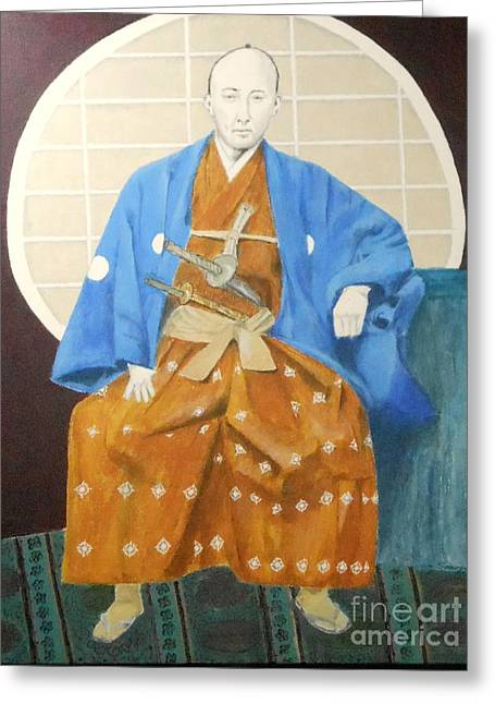 Samurai-san -- Portrait Of Japanese Warrior Greeting Card
