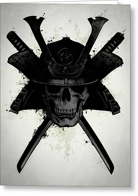 Samurai Skull Greeting Card