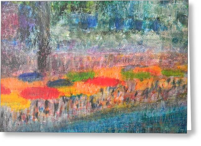 River Scenes Pastels Greeting Cards - San Antonio By the River II Greeting Card by Marwan George Khoury