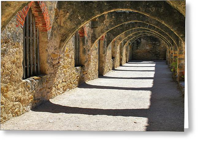 Greeting Card featuring the photograph San Antonio Mission San Jose by Gregory Ballos