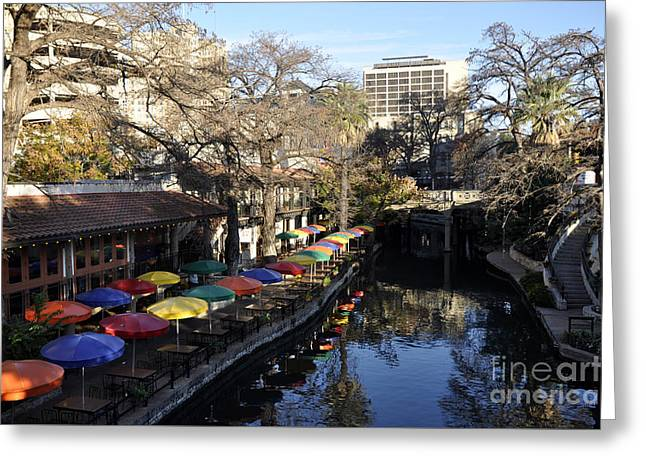 San Antonio River Walk Greeting Card by Andrew Dinh
