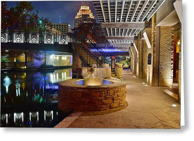 San Antonio River Walk Greeting Card by Frozen in Time Fine Art Photography