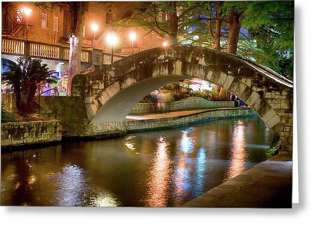 San Antonio River Walk V1 Greeting Card