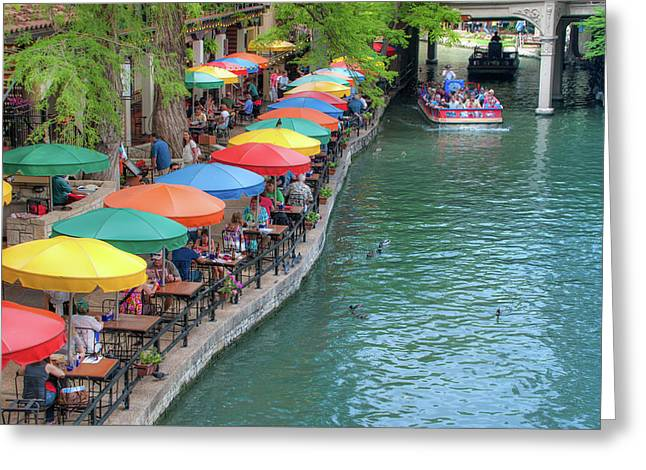 San Antonio Riverwalk - A Place For Love Greeting Card by Gregory Ballos