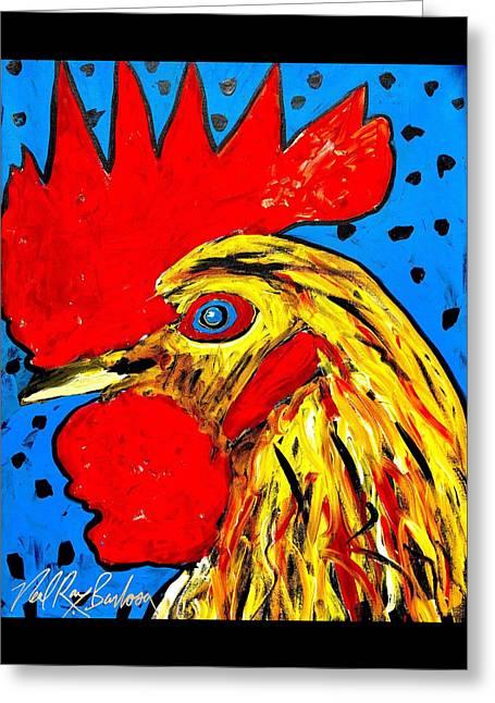 San Antonio Rooster Greeting Card
