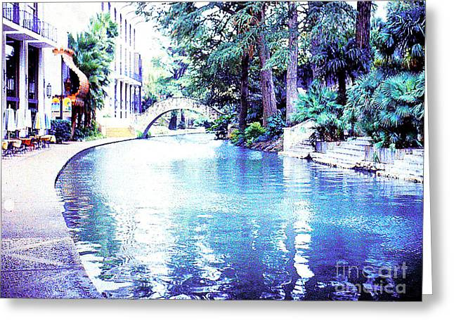 San Antonio Texas  River Walk Greeting Card by Merton Allen