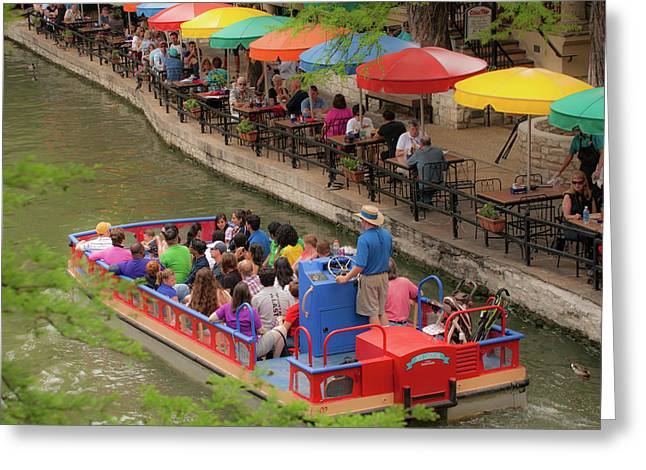 San Antonio Texas Riverwalk Umbrellas 1x1 Greeting Card