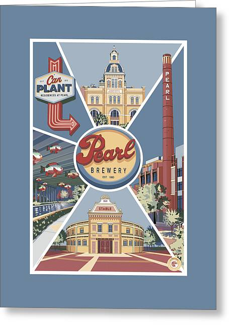 San Antonio's Pearl Greeting Card
