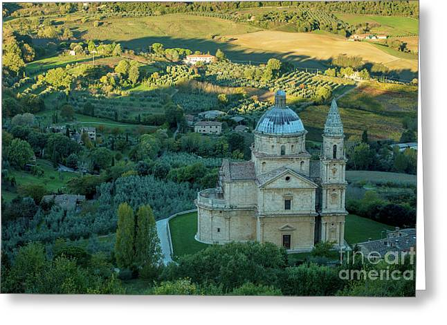 Greeting Card featuring the photograph San Biagio Church by Brian Jannsen
