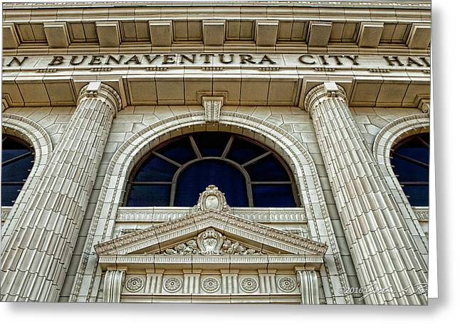 San Buenaventura City Hall Greeting Card