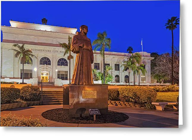 Greeting Card featuring the photograph San Buenaventura City Hall by Susan Candelario
