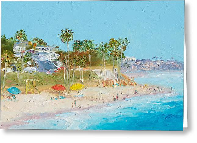 San Clemente Beach Greeting Card by Jan Matson