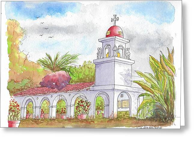 San Clemente Mission Parish, Bakersfield, California Greeting Card by Carlos G Groppa