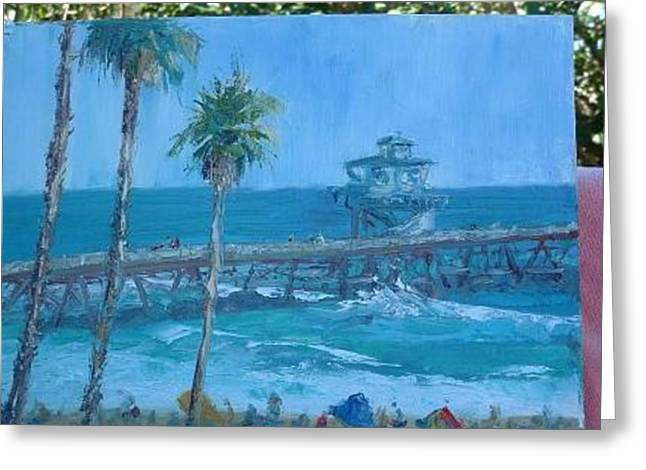 San Clemente Pier Greeting Card by Bryan Alexander