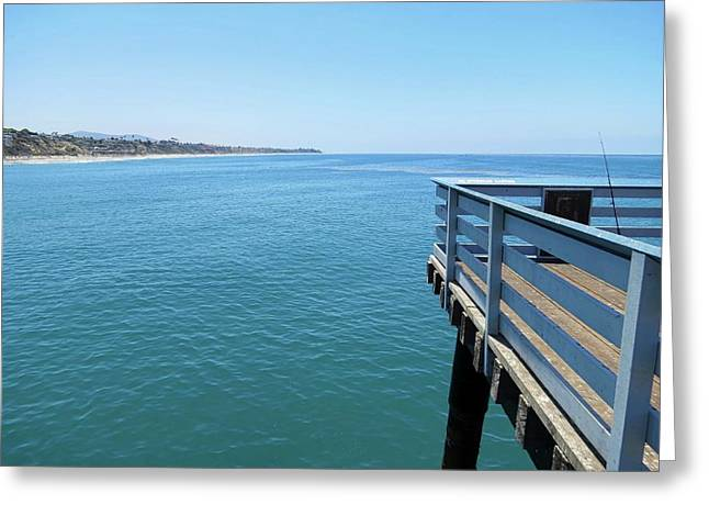 San Clemente Pier Greeting Card by Connor Beekman