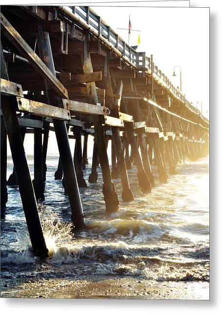 Greeting Card featuring the photograph San Clemente Pier Magic Hour by Kyle Hanson