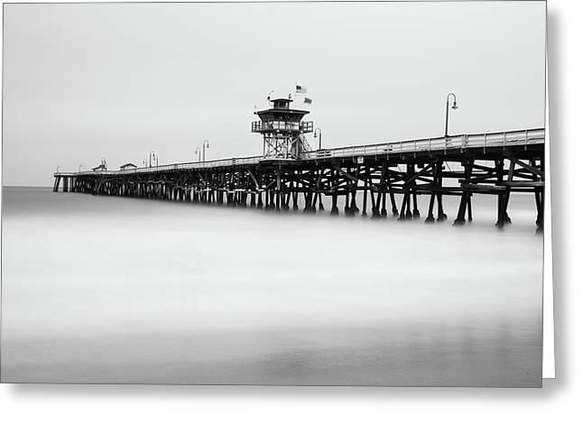 Greeting Card featuring the photograph San Clemente Pier by Tassanee Angiolillo