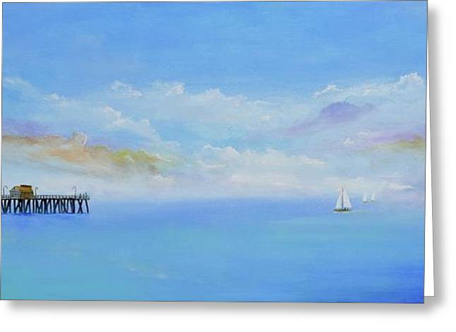 Greeting Card featuring the painting San Clemente Sail by Mary Scott