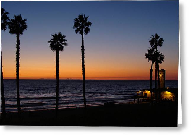 San Clemente Sunset Greeting Card by Ty Nichols