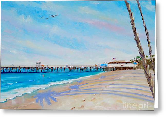 Greeting Card featuring the painting San Clemente Walk by Mary Scott