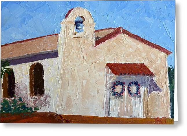 San Cosme Chapel Greeting Card by Susan Woodward