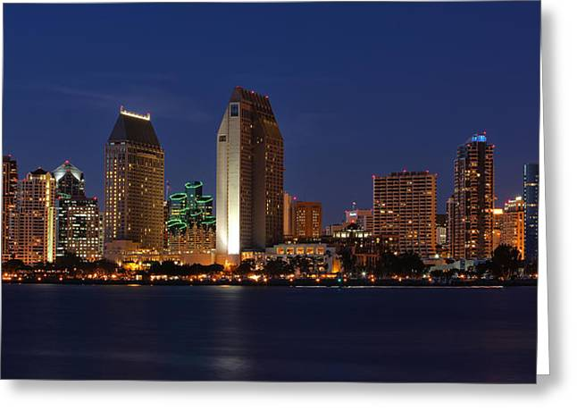 San Diego America's Finest City Greeting Card by Larry Marshall