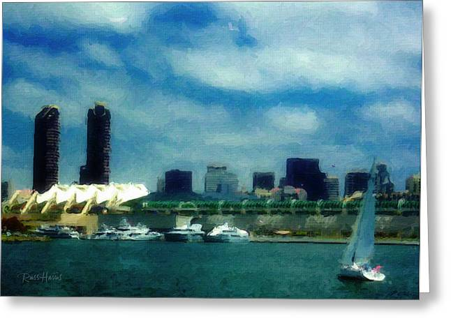 San Diego Bay -  Convention Center Greeting Card
