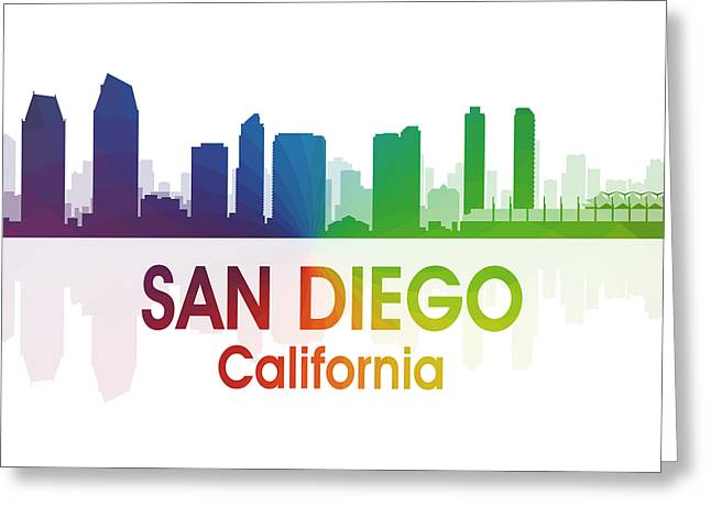 San Diego Ca Greeting Card by Angelina Vick