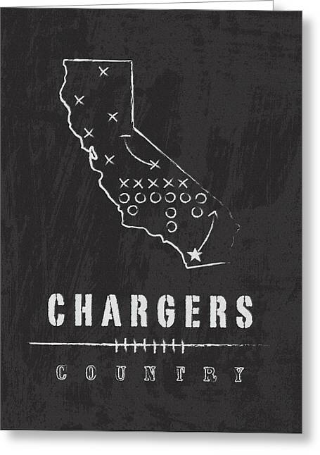 San Diego Chargers Art - Nfl Football Wall Print Greeting Card