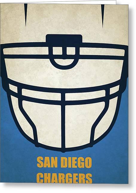 San Diego Chargers Helmet Art Greeting Card
