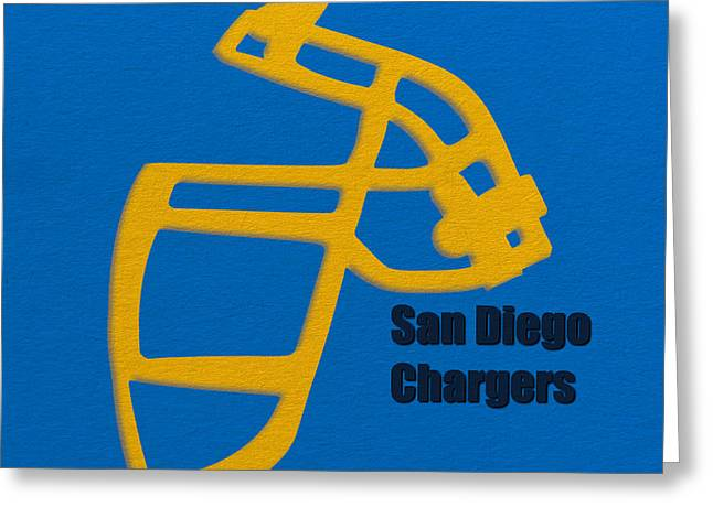San Diego Chargers Greeting Cards - San Diego Chargers Retro Greeting Card by Joe Hamilton