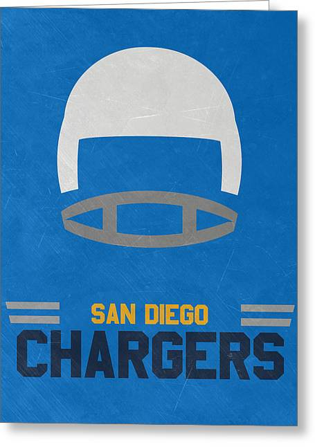 San Diego Chargers Vintage Art Greeting Card