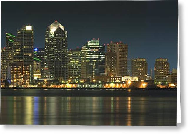 Cityscape Digital Art Greeting Cards - San Diego Cityscape Greeting Card by Mike McGlothlen
