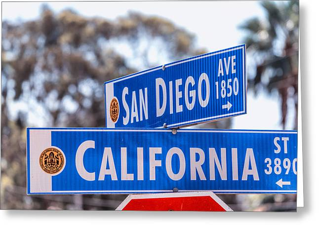 San Diego Crossing Over California Greeting Card